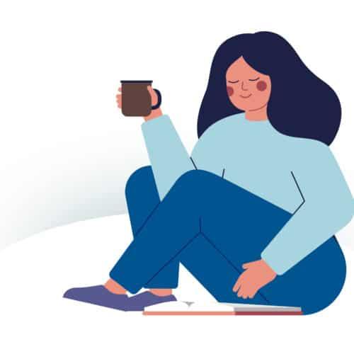 Kaffe trinken und lesen Frau, Psychotherapie und Coaching Pinneberg - Stephanie Schullmann Redlich